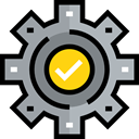 Gear, Seo And Web, settings, configuration, cogwheel, Tools And Utensils Black icon