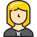 user, woman, profile, Professions And Jobs, Avatar, Social, Businesswoman Black icon