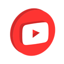 media, network, music, youtube, play, online, Social Crimson icon
