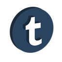 media, network, Logo, Social, Tumblr DarkSlateGray icon