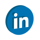 media, online, Logo, Linkedin, Social DarkCyan icon