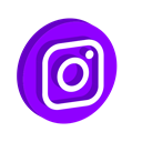 media, play, online, Logo, Social, Instagram DarkViolet icon