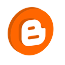 media, blogger, Social OrangeRed icon