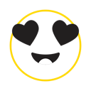 Feel, emoticon icon, cool, smile, Emotion Black icon