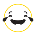Emotion, Feel, emoticon icon, cool, smile Black icon