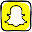 Camera, media, Ghost, social media, Social, Communication, file sharing, Snapchat Yellow icon