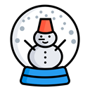Ball, Snow, christmas, Christmas Decorations, winter, snowman, xmas Black icon