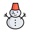 Snow, christmas, snowman, Holidays, Holiday, xmas, decoration Black icon