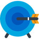 Arrow, Target, darts, Archery, targeting, weapons, Dart Board, Sports And Competition DeepSkyBlue icon