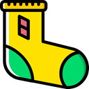 Feet, clothing, sock, socks, fashion, Kid And Baby Gold icon