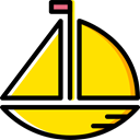 sail, Sailboat, Boats, Kid And Baby, sailing, Boat, transport Gold icon