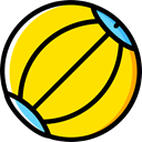 miscellaneous, Ball, Beach ball, summer, Fun, leisure, Kid And Baby Gold icon