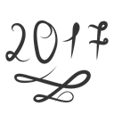 new, happy, year2017, christmas, year, new2017 Black icon
