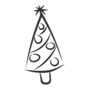 Tree, christmas Black icon