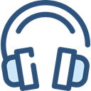 electronics, earphones, sound, Audio, Headphones, Headphone, technology DarkSlateBlue icon