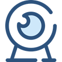 electronics, Videocam, Communications, video chat, Computer, Cam, Webcam, technology, Videocall DarkSlateBlue icon