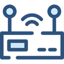 internet, Connection, Modem, wireless, wi-fi, technology, electronics, networking DarkSlateBlue icon