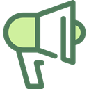 megaphone, loudspeaker, shout, protest, announcer, Tools And Utensils DimGray icon