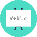 pythagorean theorem, white board tutor, White Board, A^2+b^2=c^2, math tutor MediumTurquoise icon