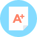 tutor, A+ test LightSkyBlue icon