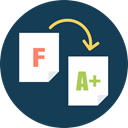 tutor, A+ test, f to a, f to a+, tutor helps improve grade DarkSlateGray icon