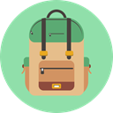 Backpack, School Bag, organized backpack, school backpack LightGreen icon