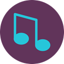 music, player, Note, song DimGray icon