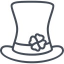 hat, day, saint, Holiday, shamrock, patricks Black icon