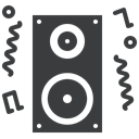 Loud, noise, Fun, music, speaker, party, Deejay DarkSlateGray icon