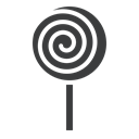 Candy, sugar, lollypop, confectionery, sweet, Lollipop, treat Black icon