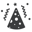 birthday, party, Cap, cone, new year, merry, Celebrate DarkSlateGray icon