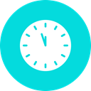 Countdown, twelve, Clock, new, time, year DarkTurquoise icon