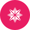 star, northern, shine, Twinkle, Bright, new year, pole Crimson icon