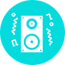 Fun, Deejay, music, speaker, party, Loud, noise DarkTurquoise icon