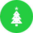 new, Tree, Celebration, christmas, year, decoration LimeGreen icon
