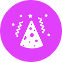 birthday, party, Cap, cone, new year, merry, Celebrate MediumOrchid icon