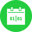 day, january, new year, Calendar, date, event, Month LimeGreen icon