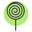 Candy, sugar, lollypop, sweet, Lollipop, treat, confectionery LightGreen icon