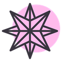 northern, shine, Twinkle, star, Bright, new year, pole Pink icon