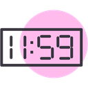 Clock, time, new year, Countdown, twelve Pink icon