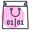 Purchase, new year, Bag, sale, of, End, shopping Pink icon
