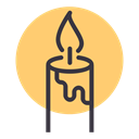light, Candle, christmas, birthday, Bright, easter, new year Khaki icon