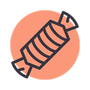 toffee, confectionery, Candy, sugar, sweet LightSalmon icon