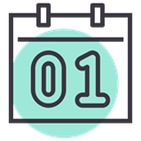 Month, day, january, new year, Calendar, date, event Icon