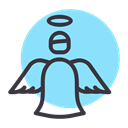 holy, fairy, spirit, christmas, Angel, year, new LightSkyBlue icon