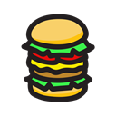 Burger, Big mac Black icon