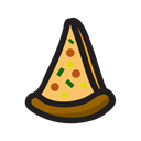 Pizza, food, snack Black icon