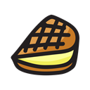 Cream, sandwich, Ice, snack, Dessert Black icon