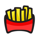 french fries, snack, Fast food, fries Black icon