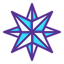 Bright, new year, pole, star, northern, shine, Twinkle DarkSlateBlue icon